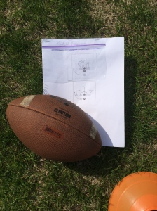 Football and playbook for the Mustang Bowl - Football Sport Education Unit