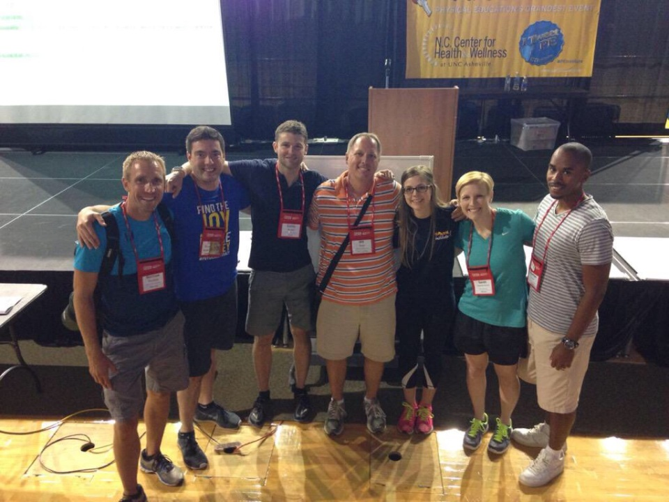 #PHYSedcamp Team At The National PE Institute 2015